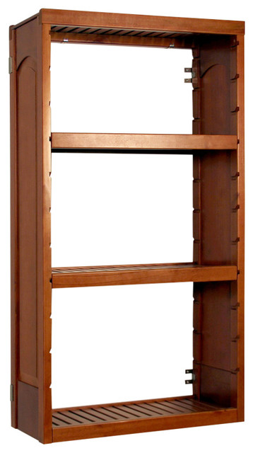 John Louis Home 12 Inch Woodcrest Raised Panel Tower With 2 Shelves,  Carmel, 12
