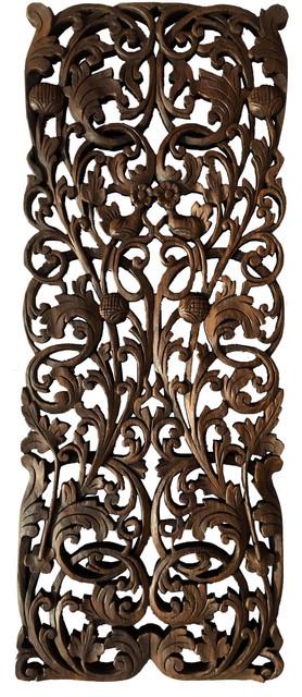 Vine Wood Carved Wall Panels, Tropical Home Decor Wall Art/headboard.