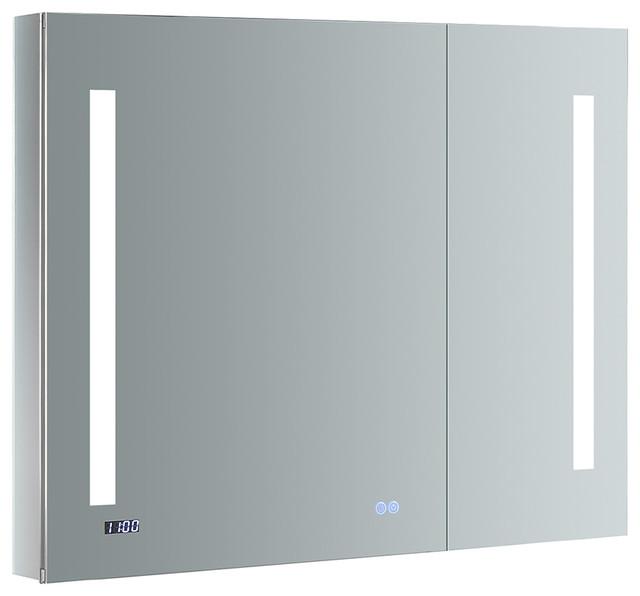 . Fresca Tiempo 36  x 30  Bathroom Medicine Cabinet with LED Lighting    Defogger