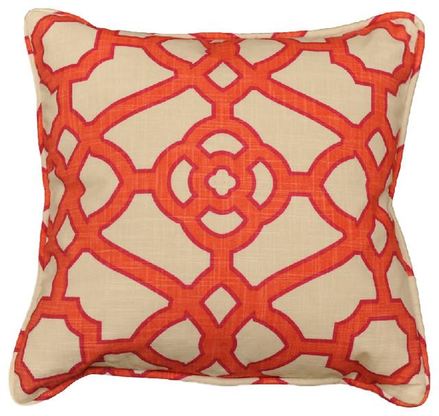Pavilion Fretwork Papaya Decorative Pillow 40x40 Contemporary Magnificent Fretwork Decorative Pillow