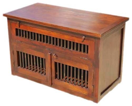 Santa Cruz TV Stand Media Storage Cabinet - Media Storage - by ...