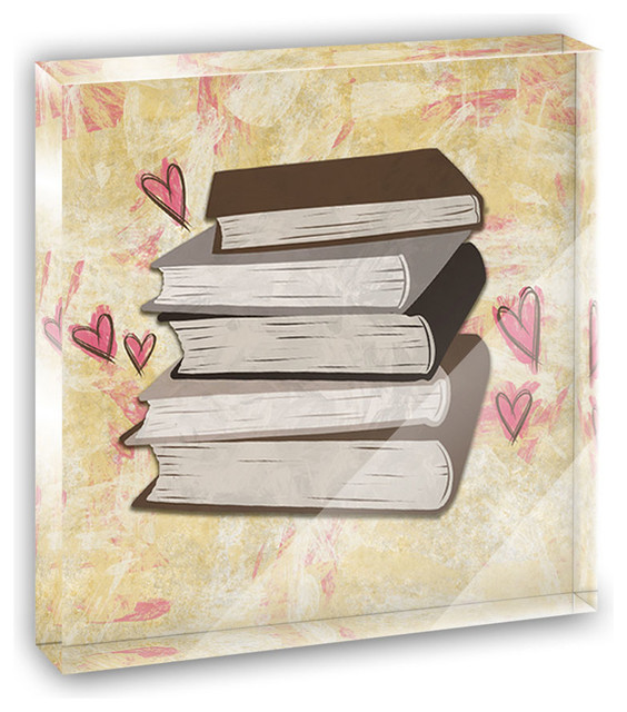 Stack of Books Mini Desk Plaque and Paperweight