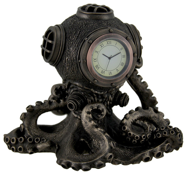 Shop Houzz Zeckos Bronze Finish Steampunk Octopus Diving