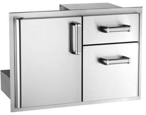 Access Door With Double Drawer, Stainless Steel.