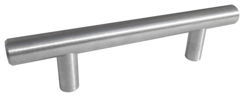 Drawer Pulls Bar Nickel 3 1/4 Inch Hole To Hole