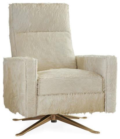 Custom Designed Hair on Hide Relaxor Swivel Chair