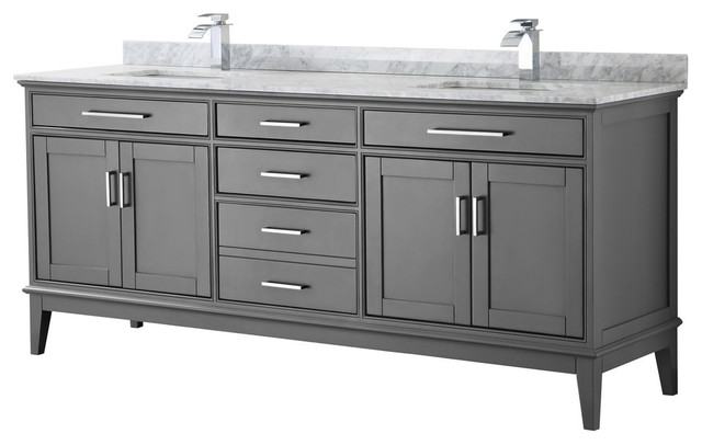 Margate 80 Inch Double Vanity With No