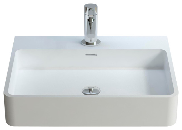 Resin Bathroom Sinks : ... ADM Solid Surface Stone Resin Wall Hung SInk - Bathroom Sinks Houzz