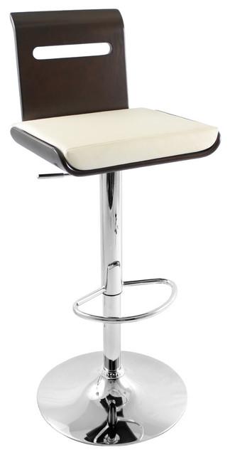 Awesome Lumisource Viera Barstool Wenge And White Evergreenethics Interior Chair Design Evergreenethicsorg