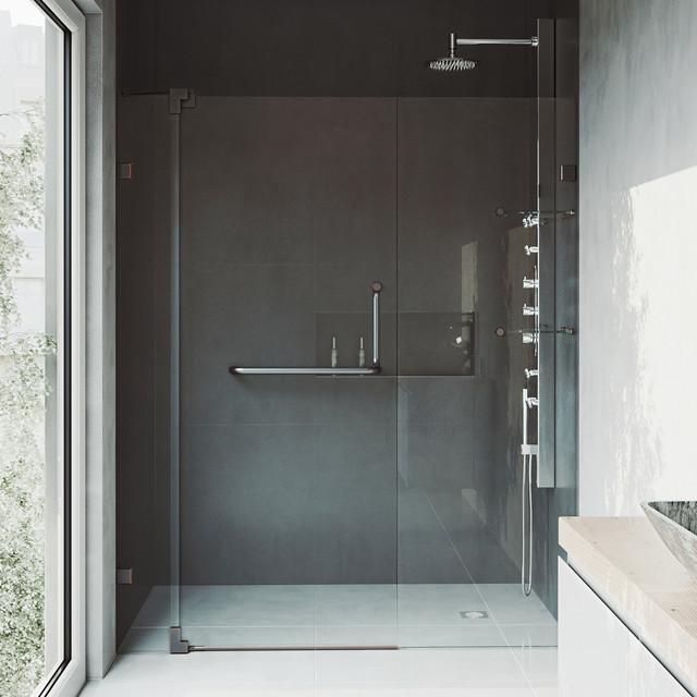 Vigo Pirouette Frameless Shower Door 48