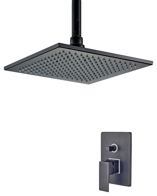 Fontana Rivera Dark Oil Rubbed Bronze Led Rain Shower Head Contemporary Showerheads And Body Sprays By Fontana Showers