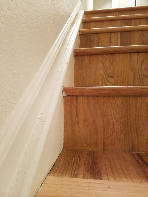 Caulking Needed Around Hardwood Stairs