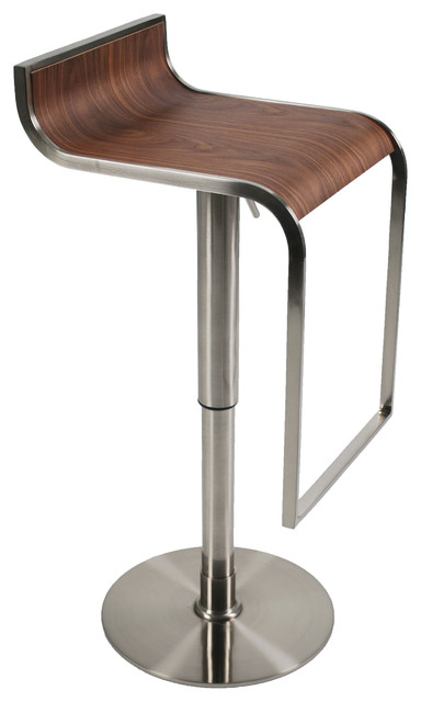 Eurostyle Forest Bar and Counter Stool, Walnut contemporary-bar-stools-and-