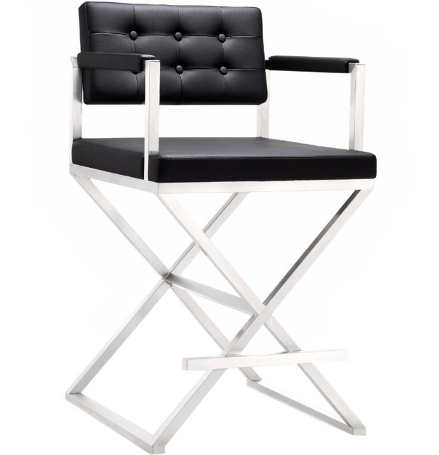 Director Steel Barstool Contemporary Bar Stools And Counter
