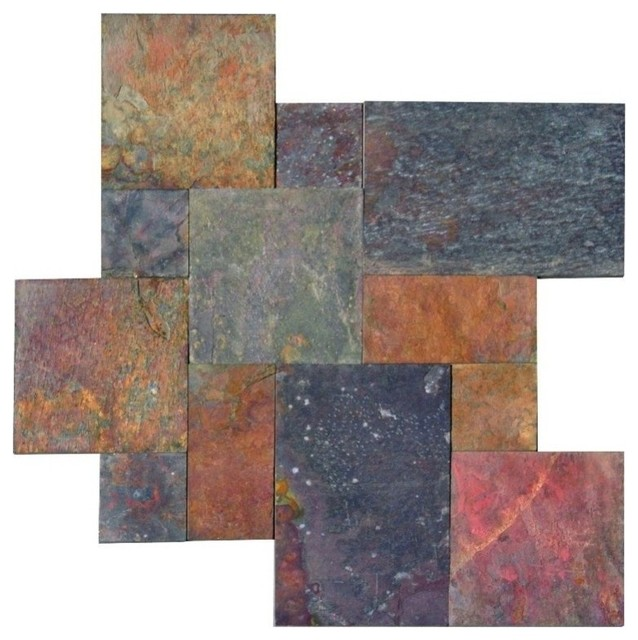 16 Sq Ft Multi Classic Gauged Tile French Pattern