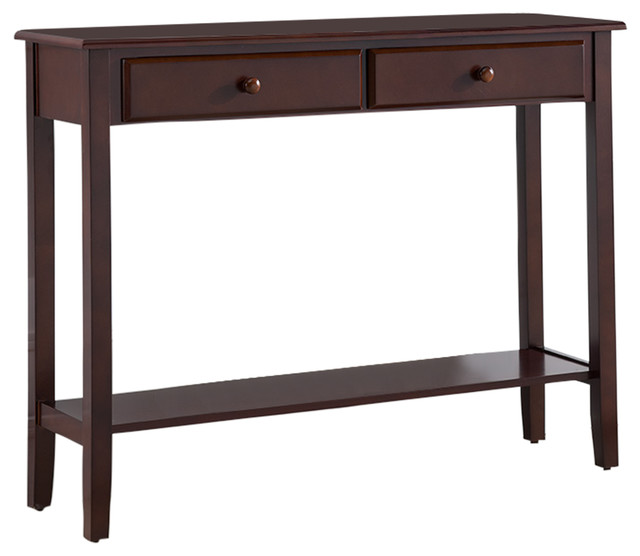 Tomag Wood Console Table, Walnut.
