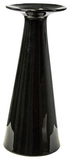 "Sagebrook Home 11"" Ceramic Taper Vase, Black"
