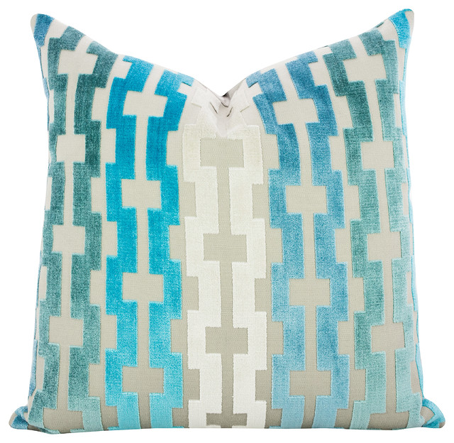 Blue Mediterranean Decorative Pillows