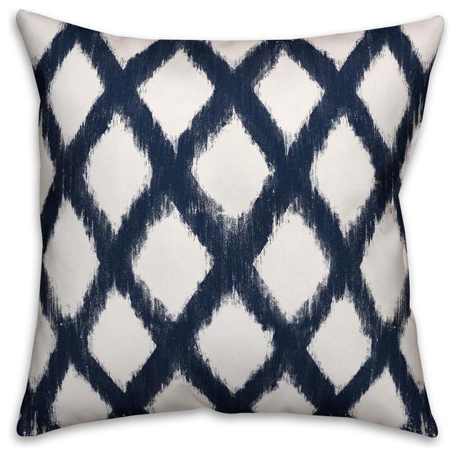 Navy Diamond Pattern 16x16 Spun Poly Pillow.