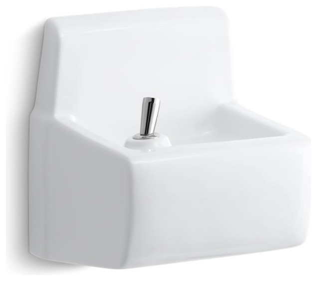 Kohler Millbrook Wall-Mounted Drinking Fountain, White