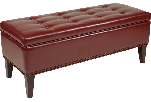 Shop Houzz Office Star Products Estrella Storage Bench In Basil Velvet Accent And Storage