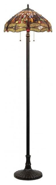 Dragan 3-Light Dragonfly Floor Lamp.