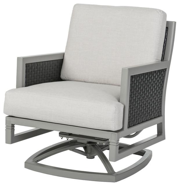 Drake Woven Swivel Rocking Lounge Chair