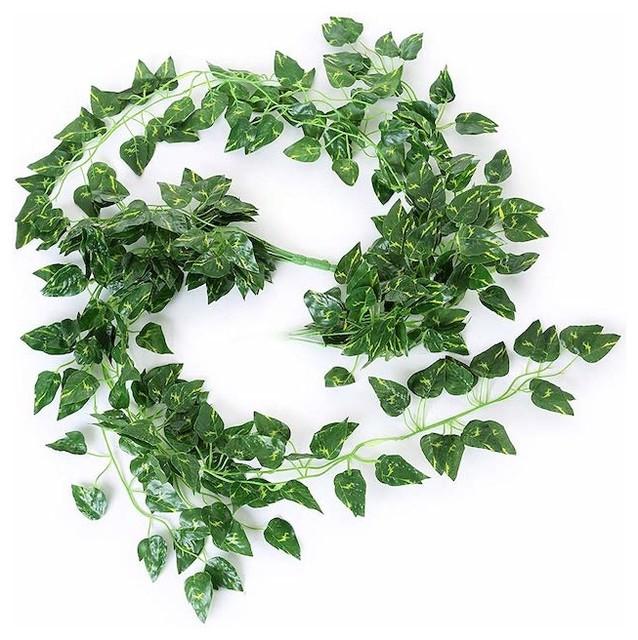 Greentime Set Of 2 33 Artificial Silk Money Plant Ivy Vine Hanging Wreath