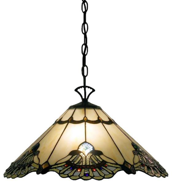 Tiffany Style Courtesan Hanging Lamp