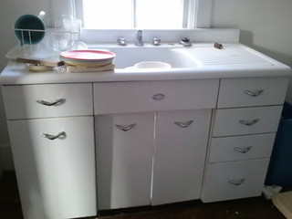 antique metal kitchen cabinet vintage sink unit with drainboards free 10663