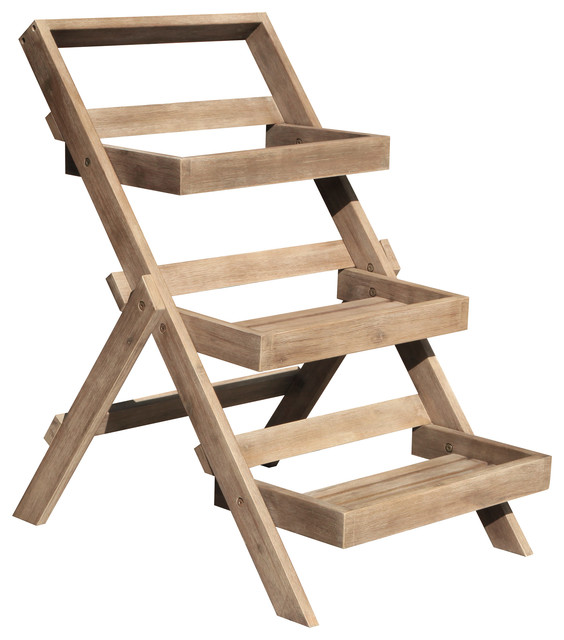Shop Houzz Vifah Hardwood 3 Tier Garden Planter Stand Plant