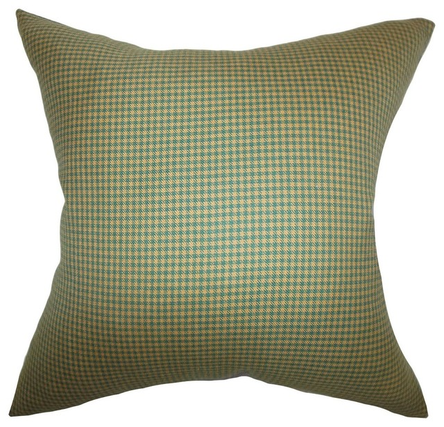 Alix Plaid Pillow Green Brown - Contemporary - Decorative Pillows - by The Pillow Collection