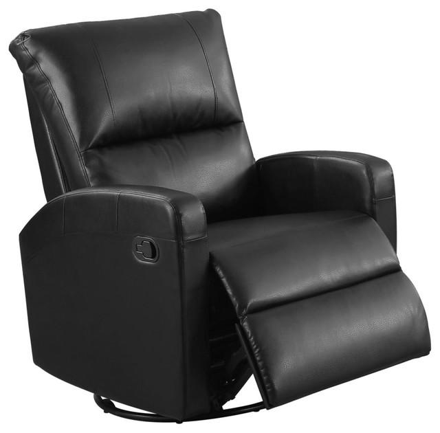 Outstanding Recliner Swivel Glider Black Bonded Leather Pdpeps Interior Chair Design Pdpepsorg