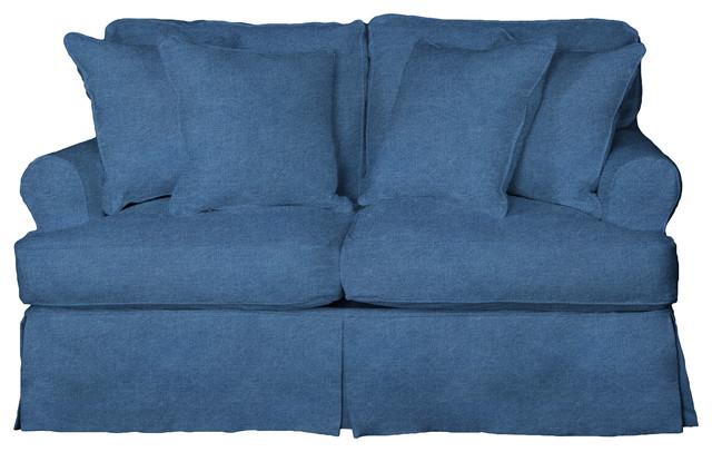 Whitman Love Seat Slip Cover, Indigo Blue.