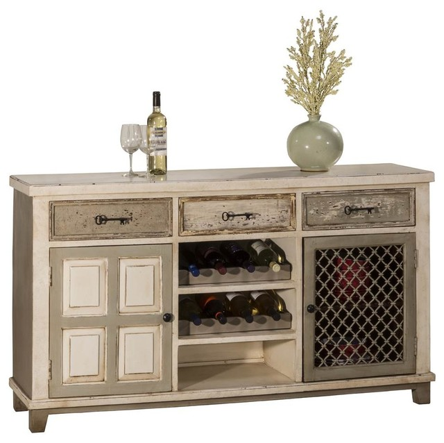 2-Door Console Table With Wine Rack - Transitional - Console Tables - by ShopLadder