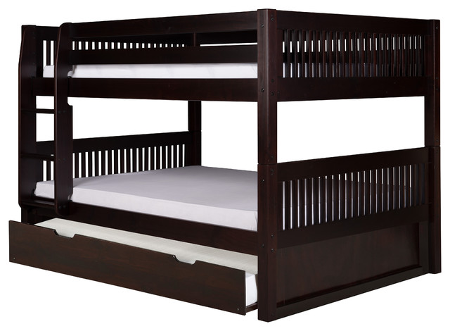 Camaflexi Camaflexi Full Over Full Low Bunk Bed With