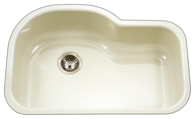 Porcelain Bar Sink : ... Porcelain Enamel Steel Undermount Offset Sink contemporary-bar-sinks