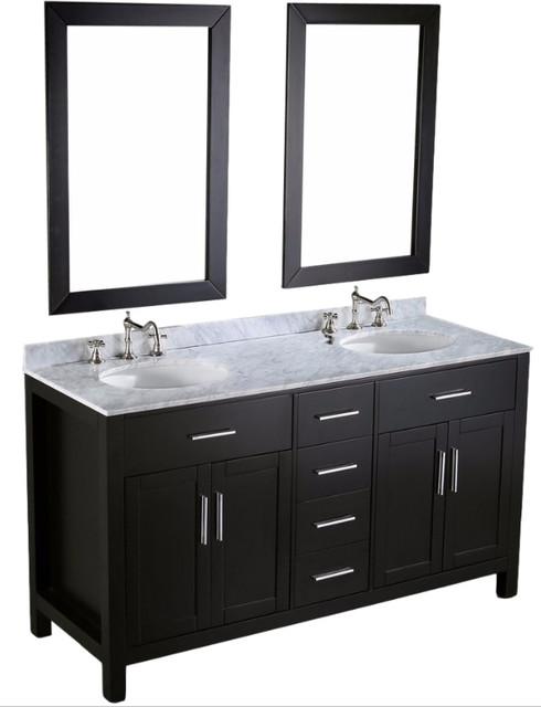 Double Vanity Set  Black  60   contemporary bathroom vanities and. Shop Houzz   Bosconi Double Vanity Set  Black  60     Bathroom