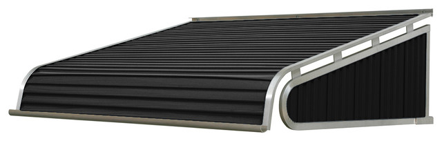 "1500 Series Aluminum Door Canopy 96""x24"" Projection, Black."