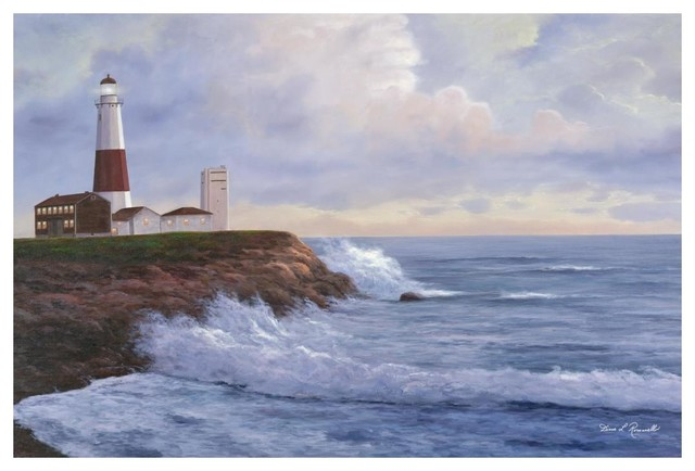 Lighthouse-Key Biscayne by Diane Romanello Seascape