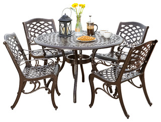 Covington 5-Piece Outdoor Dining Set - Traditional - Outdoor Dining ...