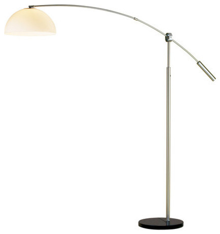 Outreach Arc Lamp Contemporary Floor Lamps By Lighting Front