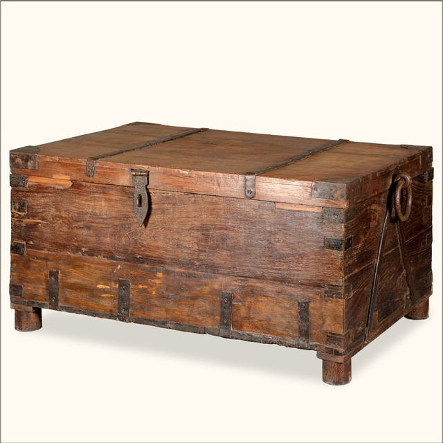 Rustic Reclaimed Wood Pirates Storage Gothic Standing Coffee Table Rustic Decorative Boxes