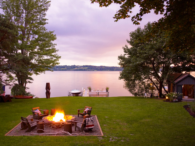 skaneateles lake house beach style patio new york by thom filicia inc. Black Bedroom Furniture Sets. Home Design Ideas