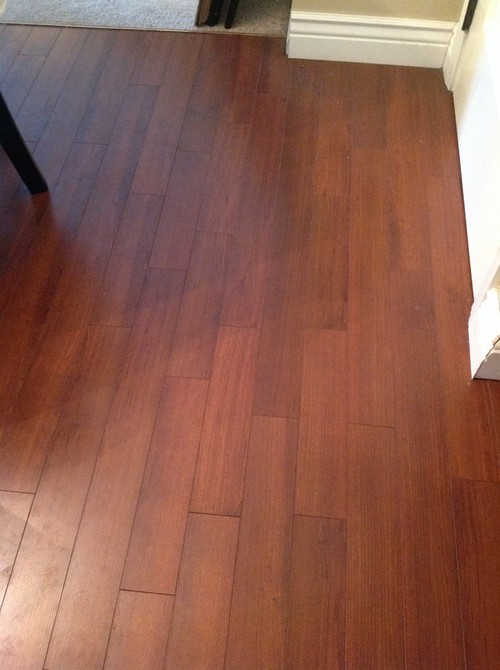 My family room and kitchen are open to one another. Are there any rules or  advice when matching wood floors? - How To Transition Wood Flooring Between Rooms