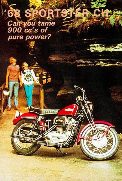 1968 Harley Davidson Sportster Ch Promotional Advertising