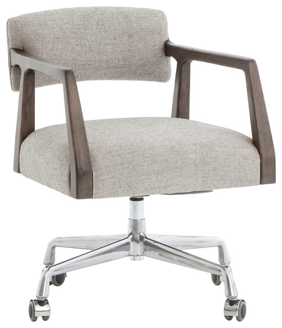 Remarkable Pia Modern Low Back Grey Upholstered Burnt Oak Office Chair Machost Co Dining Chair Design Ideas Machostcouk