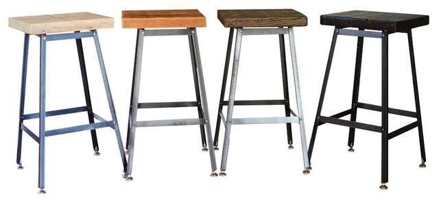 Cool Reclaimed Urban Wood Bar Stools Set Of 4 Stools 18X16X16 Clear Coat Uwap Interior Chair Design Uwaporg