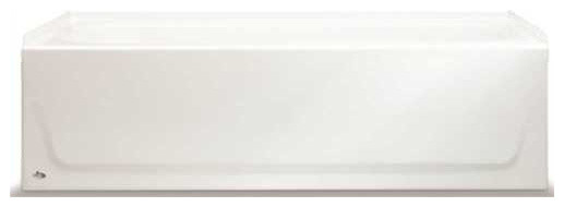 """Bootz Industries Bathtub Right-Hand Outlet, Above-Floor Rough, 60""""."""