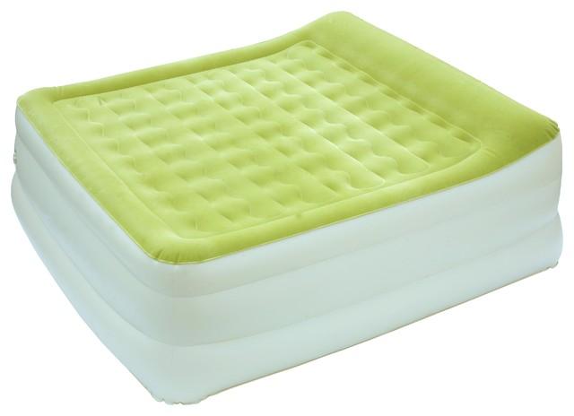 Majestic Auto Inflate Bed, Fern Kiwi/cream, King.
